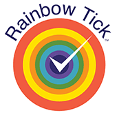 logo rainbow tick