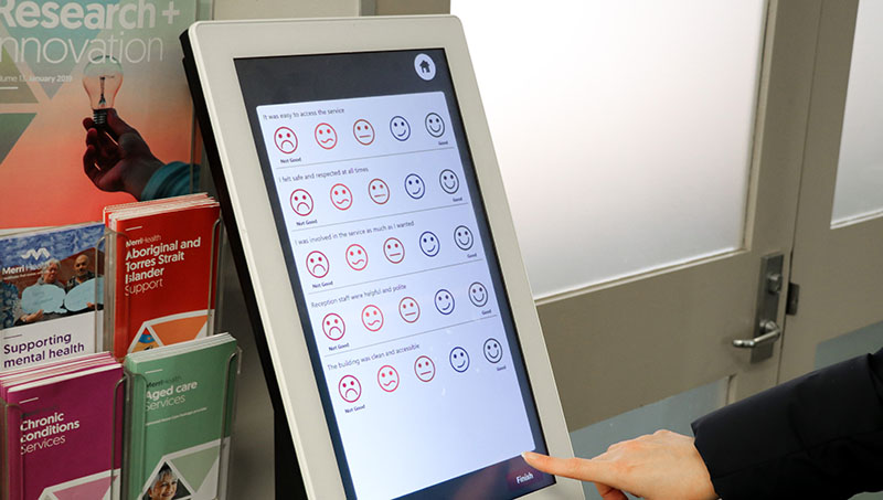 Feedback kiosks web