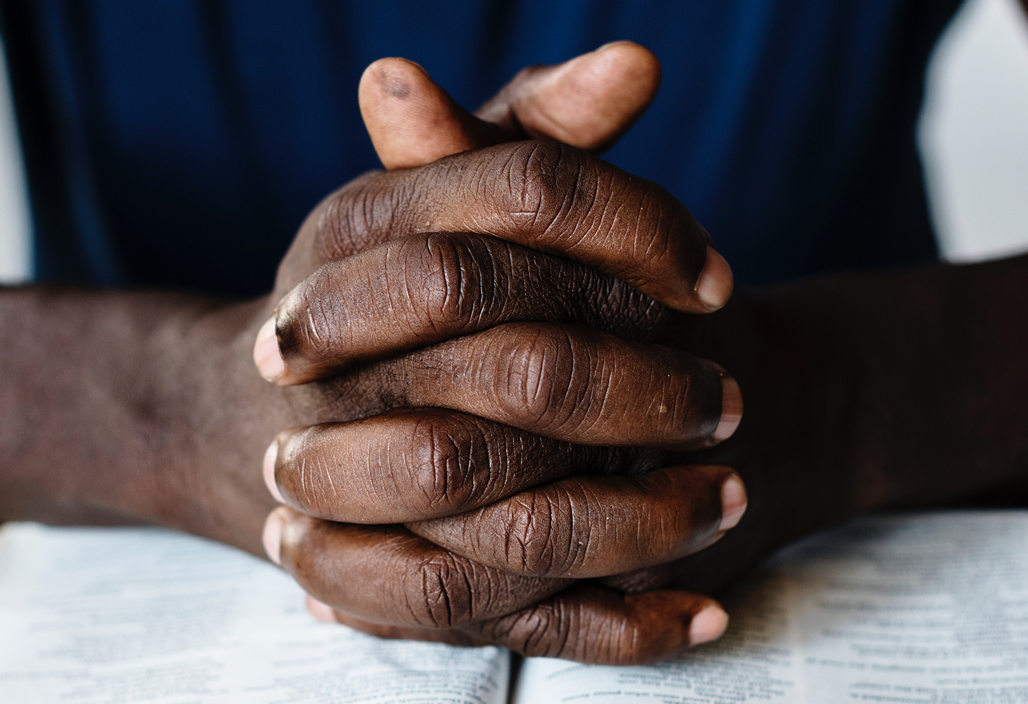 Hands young African person web